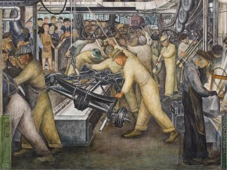 Detroit Industry, south wall (detail), Diego Rivera, 1932-33