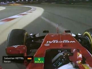 Vettel no tuvo su d�a en Bahr�in