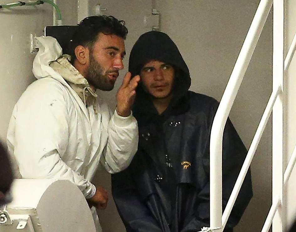 Detenidos por tráfico de personas en el barco naufragado