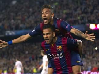 Neymar y Alves