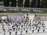 'Flash mob' de los estudiantes de Educación Social de la Universidad de Granada.