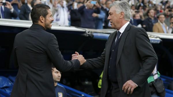 Simeone y Ancelotti