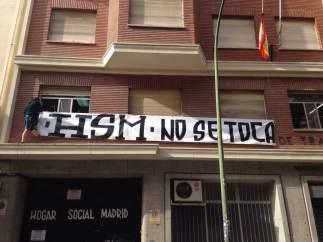 Una imagen del edificio okupado por el Hogar Social Madrid