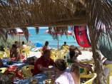 Chiringuito en una playa de Formentera (Islas Baleares)