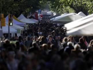 La Rambla de Cataluña, a rebosar