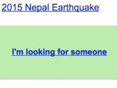 Buscador de Google para desaparecidos en Nepal