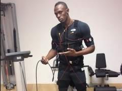 Usain Bolt, con electroestimulaci�n