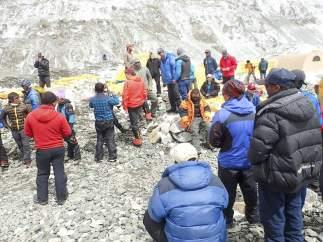 Montañeros en el Everest