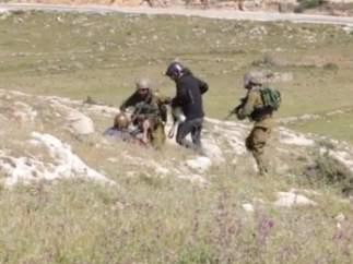 Agresiones de los soldados israel�es a fot�grafos