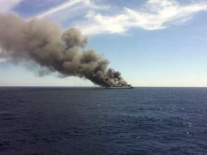 Incendio en un ferry