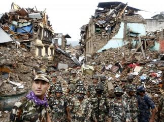 Labores de rescate en Nepal