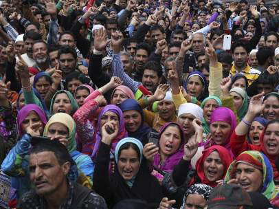 D�a del Trabajo en Cachemira