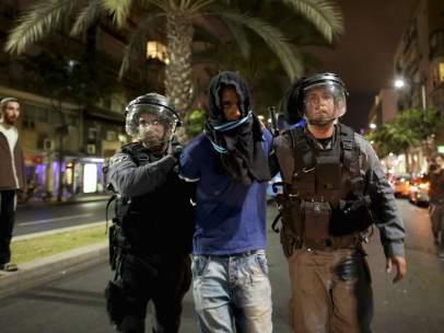 Los etíopes protestan en Tel Aviv