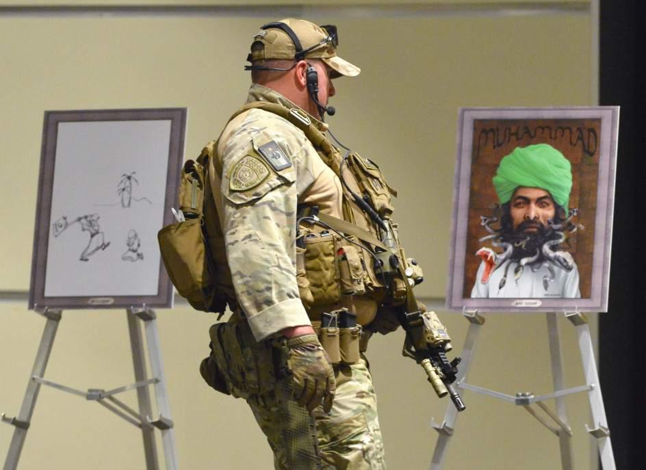 Dos muertos en una exposición sobre Mahoma