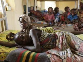 Mujeres y ni�as rescatadas en Nigeria