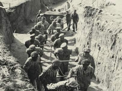 Trabajo en las canteras de Mauthausen