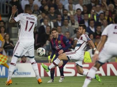 Messi ante el Bayern