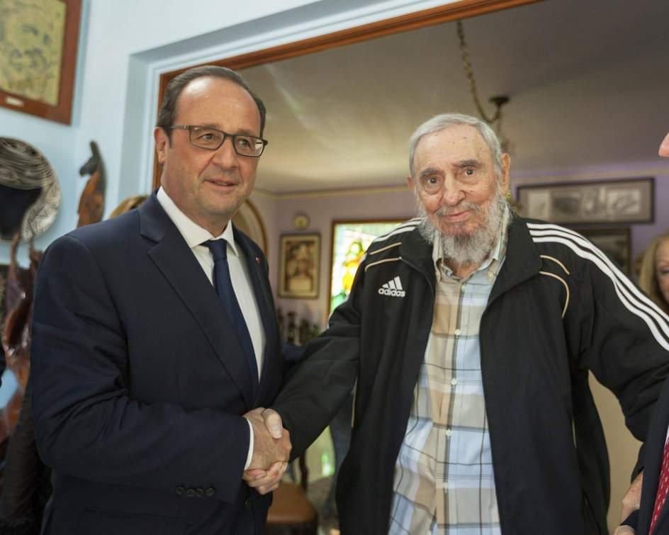 Visita histórica de Hollande a Fidel Castro