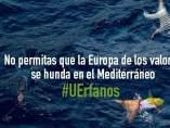 Varios cadáveres flotan en aguas del Mediterráneo.