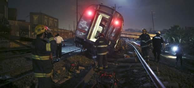 Más de 30 heridos por un choque entre un tren con pasajeros y otro vacío en Filadelfia