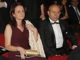 Montserrat Gomendio y José Ignacio Wert en los Premios Goya