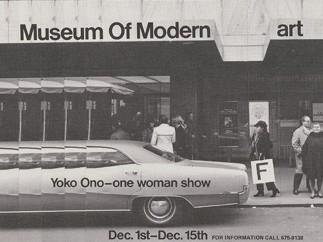 Yoko Ono - Museum of Modern [F]art. 1971