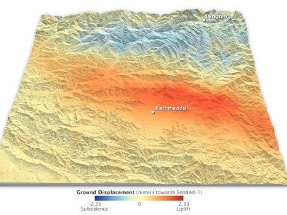 Cambios en la tierra producidos por el terremoto de Nepal