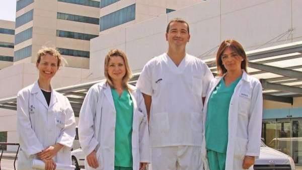 Médicos del hospital La Fe