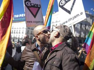 Manifestación contra la homofobia