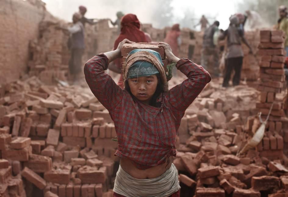 Fábrica de ladrillos en Nepal