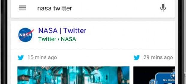Las búsquedas de Google en móviles incluirán a partir de ahora los mensajes de Twitter