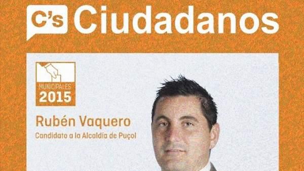Cartel electoral Rubén Vaquero