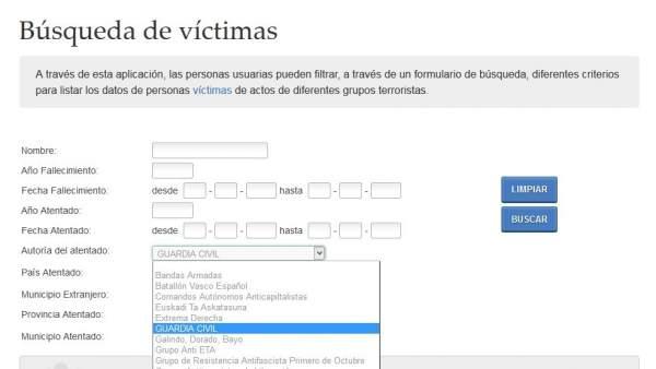 La Guardia Civil es un 'grupo terrorista' según la web de Presidencia del Gobierno vasco