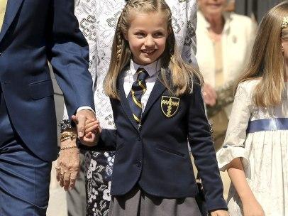 La princesa Leonor en su primera comunión