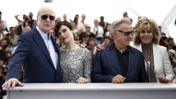 Michael Cane, Rachel Weistz, Jane Fonda y Harvey Keitel en Cannes