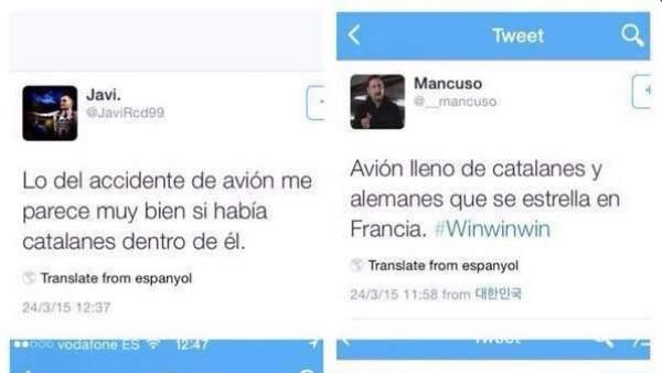 Mensajes catalanófobos