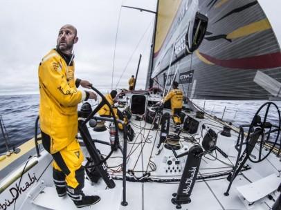 El Abu Dhabi, durante la Volvo Ocean Race 2014-15