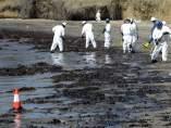 Vertido petróleo California