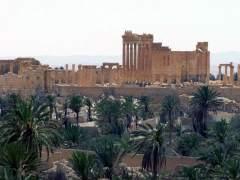 EI dinamita parte del templo de Bel en Palmira