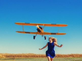 Tyler Shields - Girl Running From Plane (featuring Ana Mulvoy Ten)