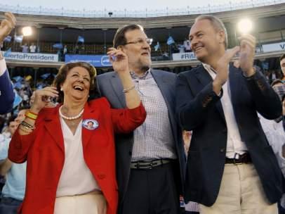 Barberá, Fabra y Rajoy