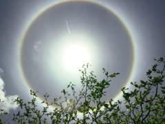 Imagen de archivo de un halo solar.