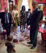Claudia Moser con Obama