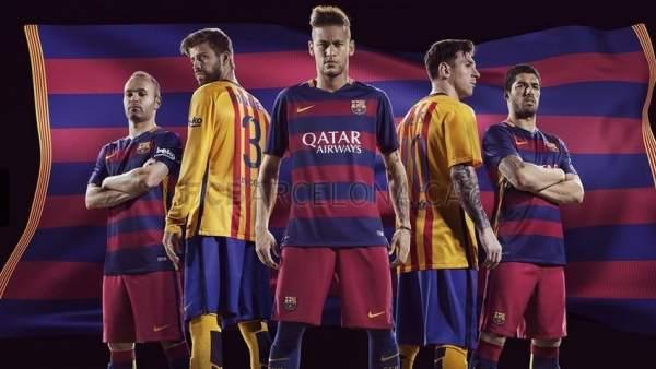 9000796a3e2fe El FC Barcelona vestirá una camiseta con franjas horizontales en la  temporada 2015-2016