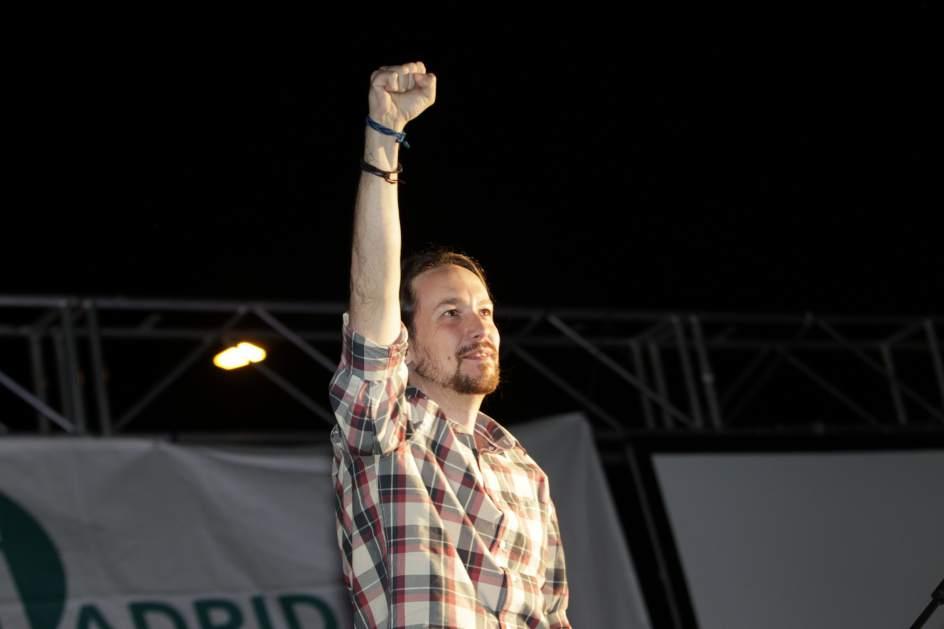 Pablo Iglesias. El secretario general de Podemos, Pablo Iglesias, celebra los resultados obtenidos en las elecciones. Iglesias ha asegurado hoy que