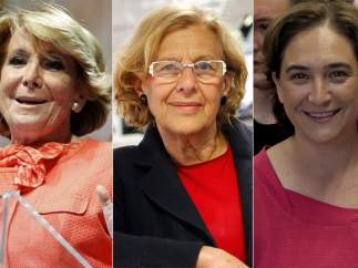 Esperanza Aguirre, Manuela Carmena y Ada Colau