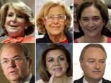 Aguirre, Carmona, Colau, Monago, Cospedal y Fabra