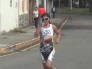 La triatleta ecuatoriana fallecida Cristina Fárez.