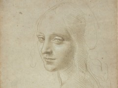 "'Head of a Young Woman (Study for the Angel in the ""Virgin of the Rocks"")', about 1483�85"