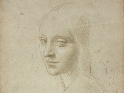 "'Head of a Young Woman (Study for the Angel in the ""Virgin of the Rocks"")', about 1483–85"